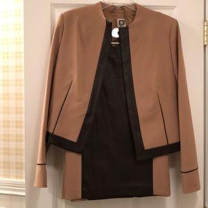 2-piece Anne Klein camel/brown skirt/jacket.